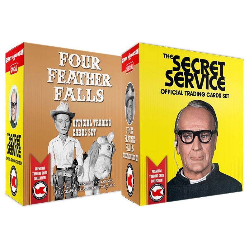 The Secret Service & Four Feather Falls Trading Cards BOX